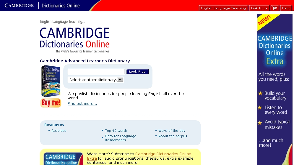 Cambridge Dictionaries On-line